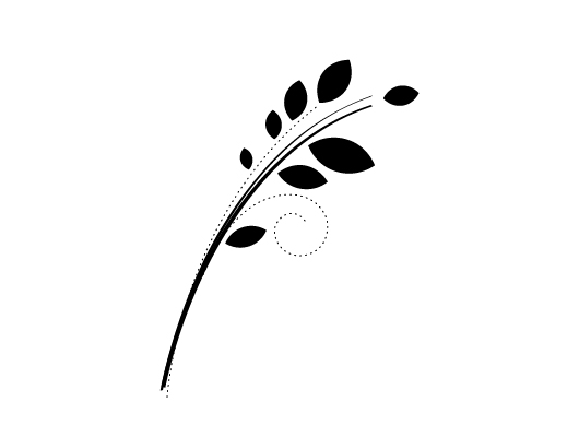 Leaf Ornament Nature Theme (Vector)