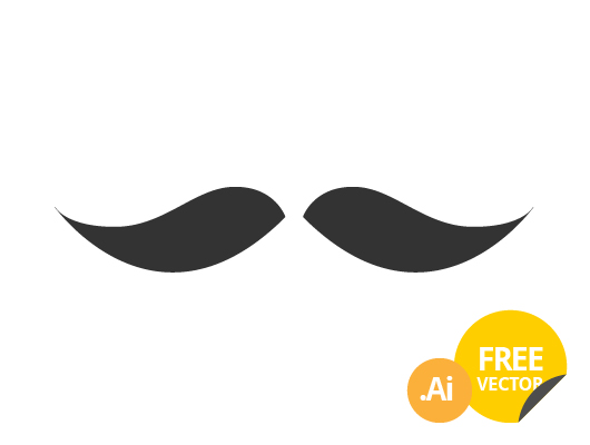 Mustache Icons (Vector)