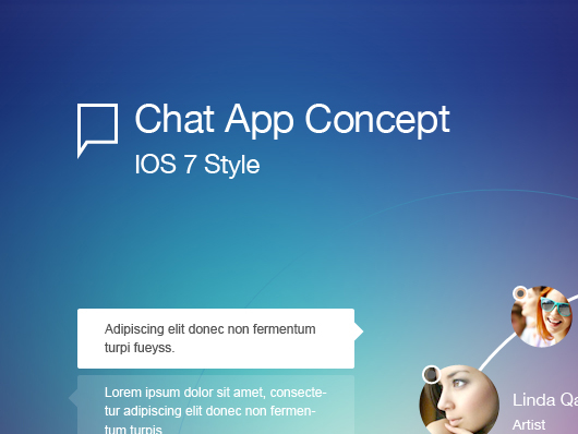 chat app ui psd