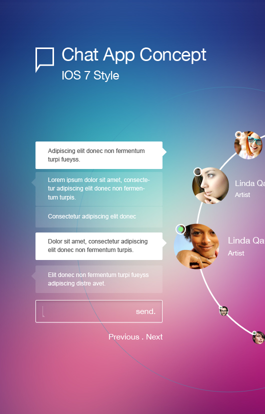 Chat Application Design (Psd)
