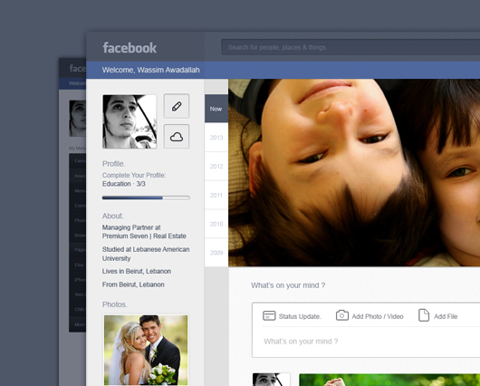 Facebook Resdesign Concept 2
