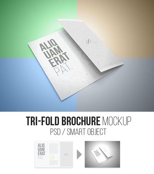 Trifold Brochure Mockup (Psd)