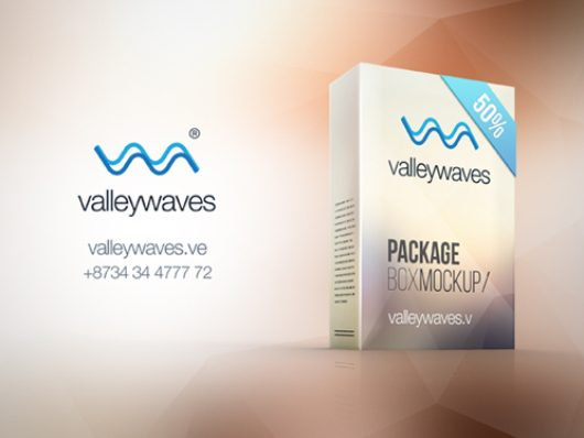 Smart Package Box Mockup (Psd)