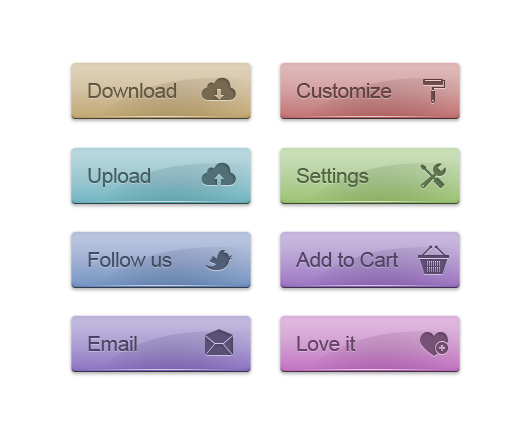 Shiny psd web buttons
