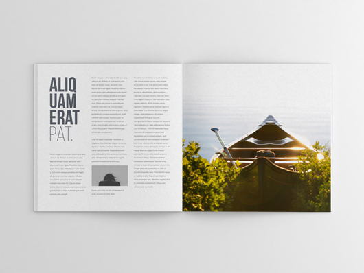 opened top view magazine mockup