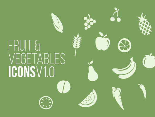 Fruit & Vegetables Icons