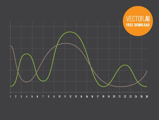 Infographic - Curve Chart Dark Version