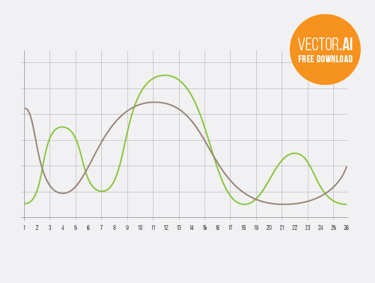 Free Curve Chart – Infographics (Vector)