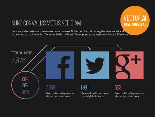 Social Media Statistics - Vector Infographic