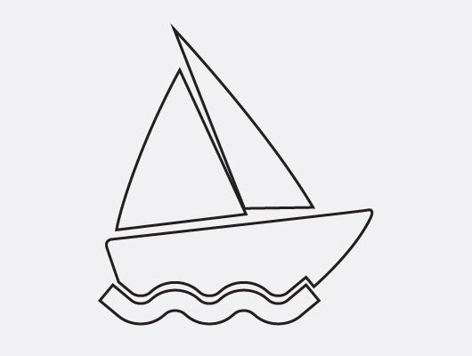 Vector Boat Icon 2