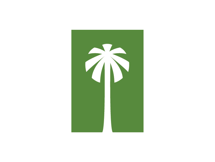 palm tree icon logo
