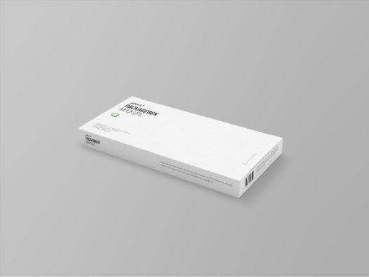 Wide Package Box Mockup