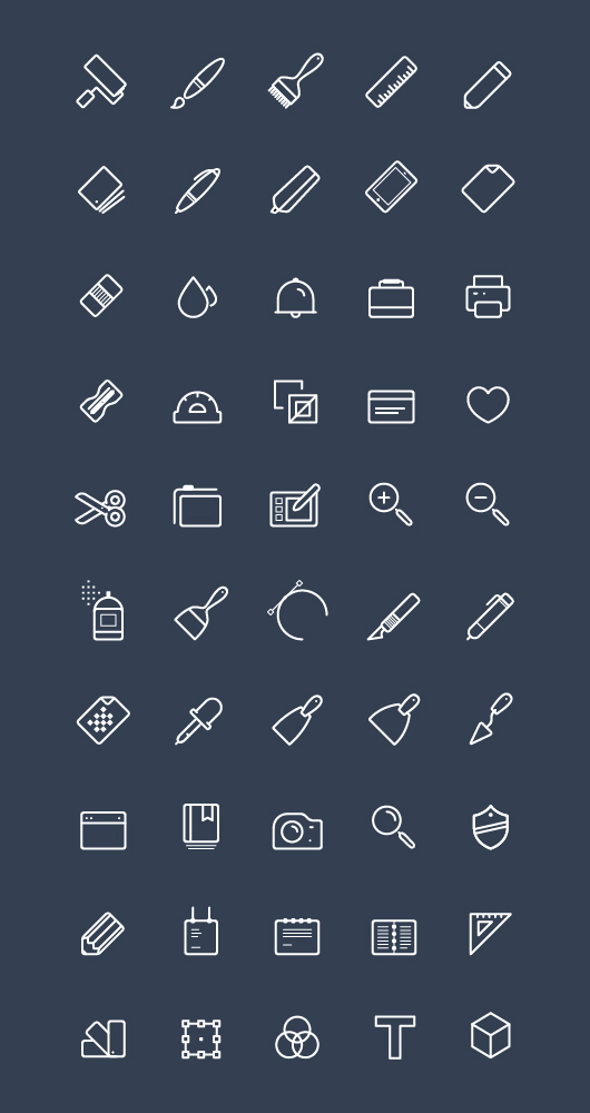 Art vector line icons