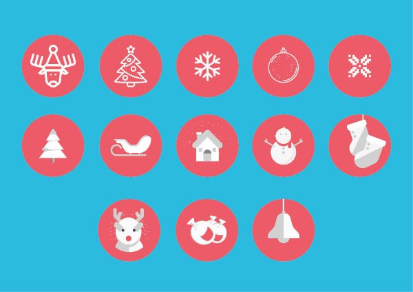 Christmas Icons 2016 vector