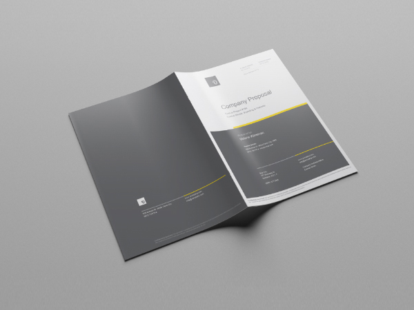 Free Company Profile Template - Company profile brochure template