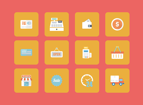 vector shopping icons