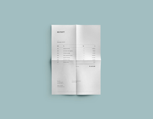 Receipt Template Design