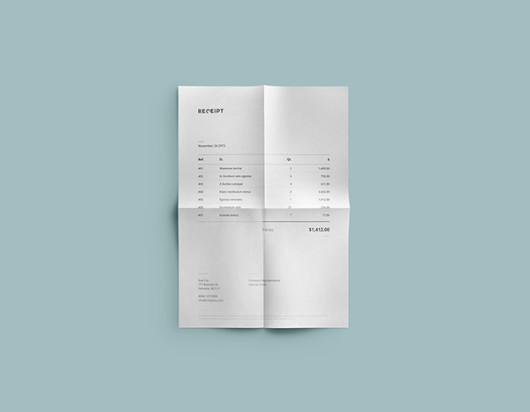 Receipt Template Design