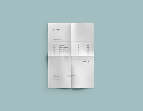 receipt, template,design