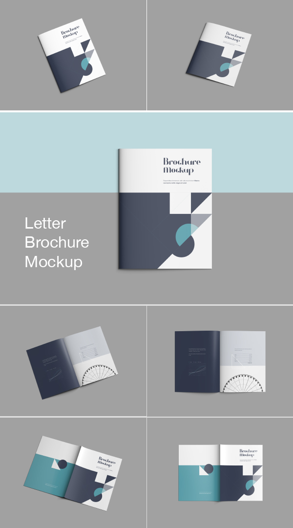 Letter size brochure mockup for Letter size brochure template