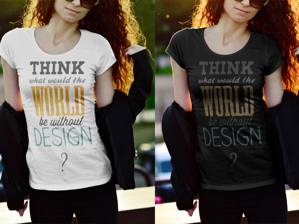 female t-shirt mockups