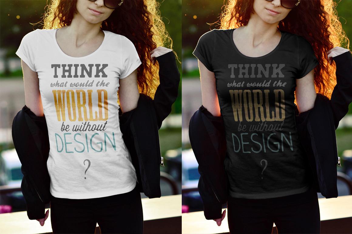 female t-shirt mockups