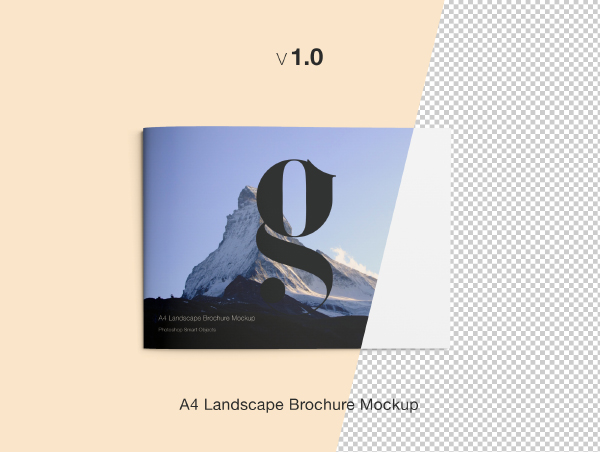 A4 Landscape Brochure Mockup