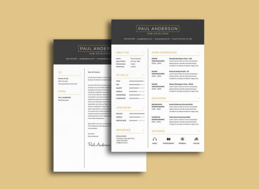 Today's freebie is a chosen photoshop resume template with a ...