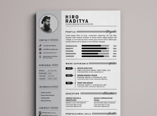 Free to download resume template that is neat and simple; designed by ...