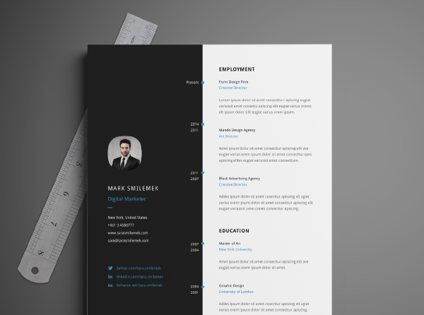 Page Resume Template Download