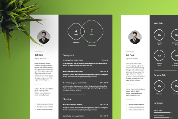 Clean Resume Template - Infographic