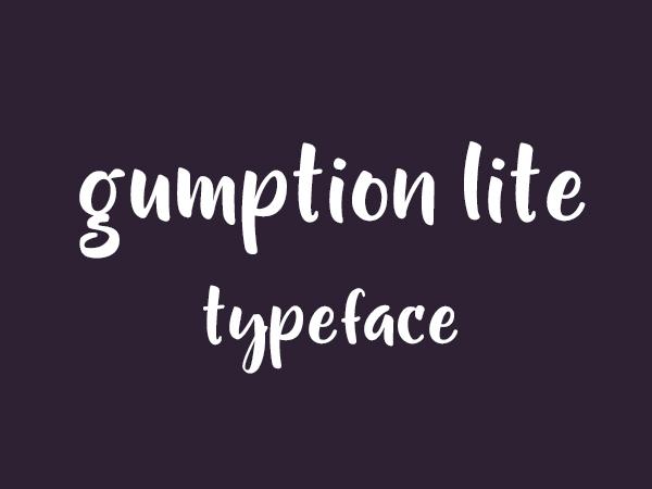 Gumption Lite Font