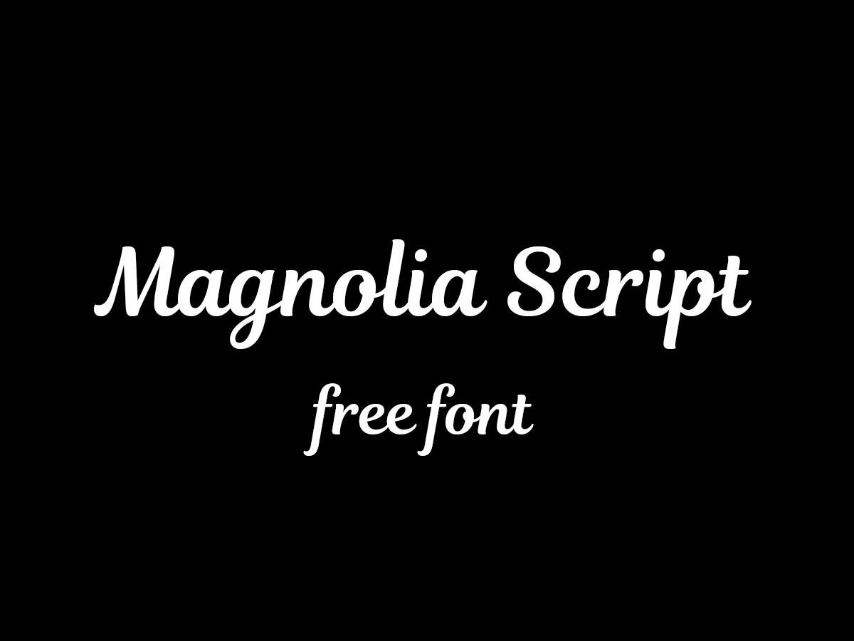 Magnolia Free Font Download