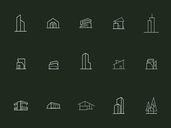architecture-line-icons