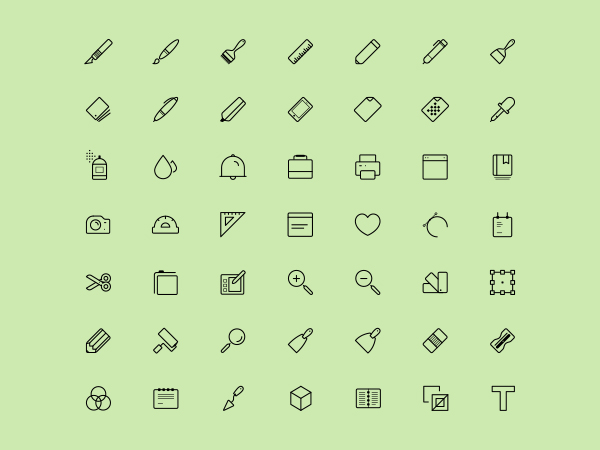 Artist Tools Icons