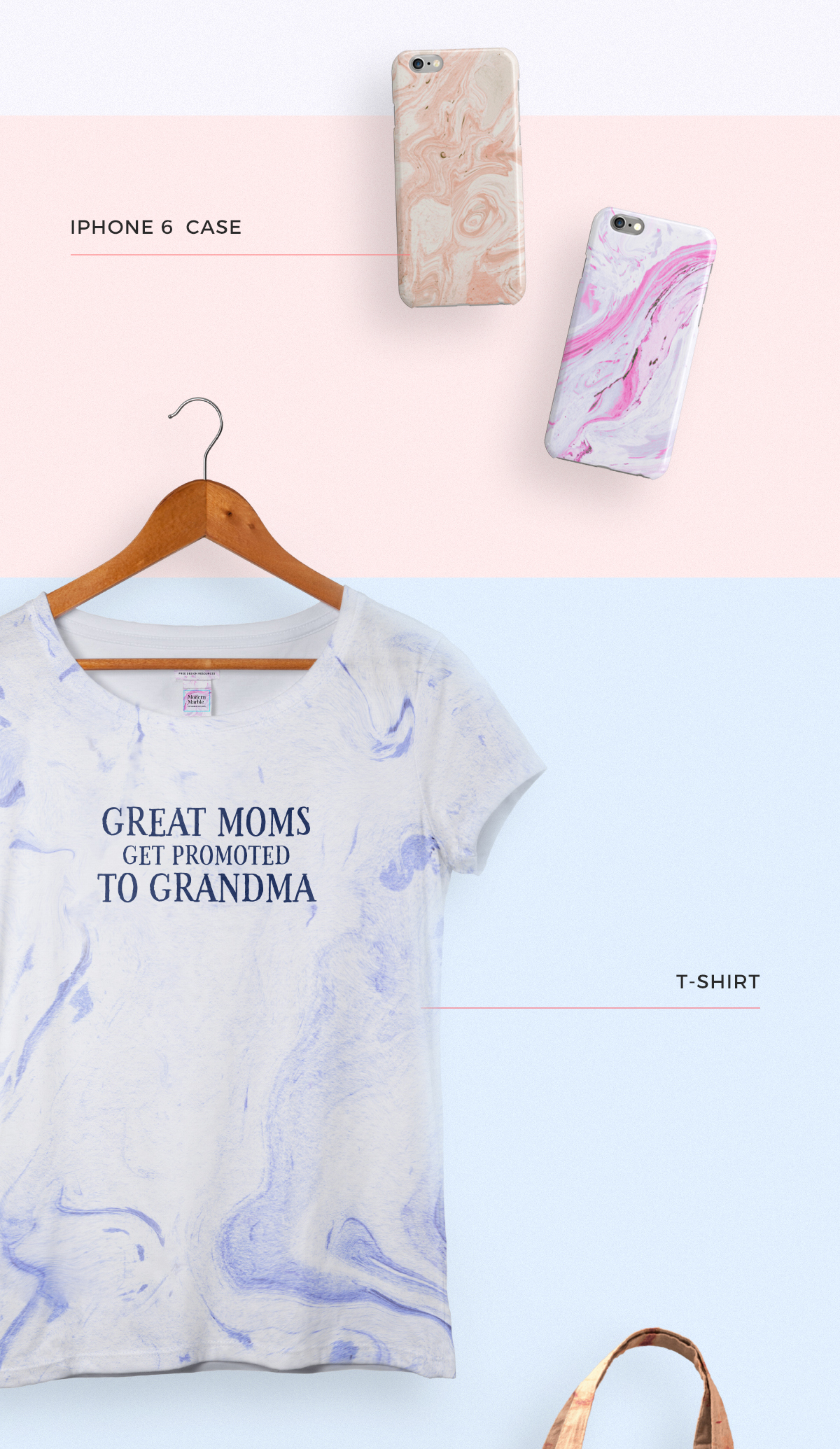 Marble Texture on T-Shirt
