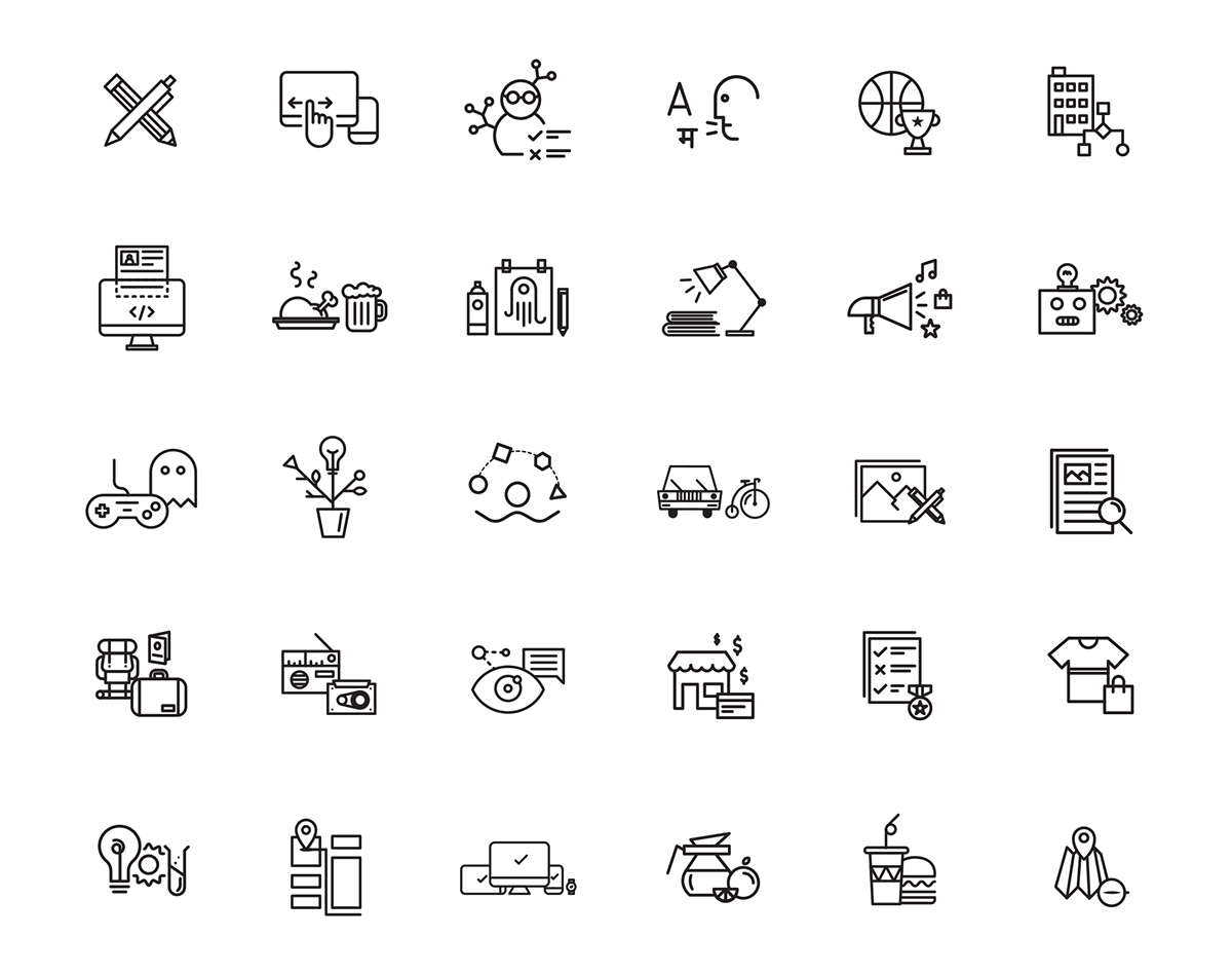 multi-purpose line icons