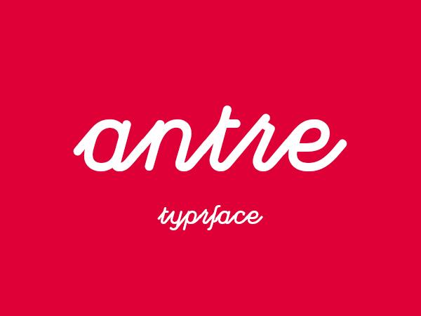 antre free font
