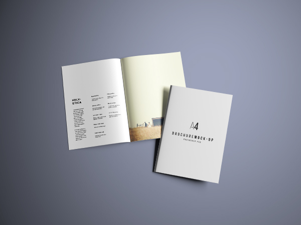 a4 brochure mockup psd free download