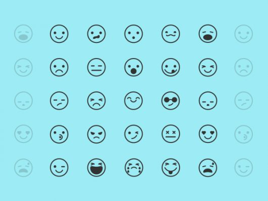 Free Emoticon Icons ( Vector / Illustrator )