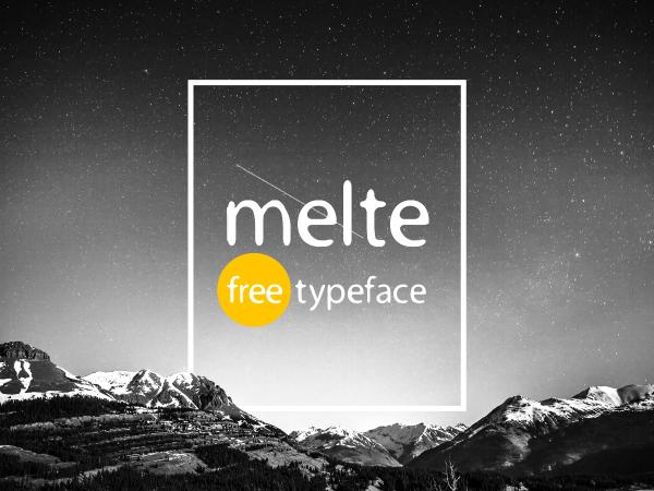 melte typeface