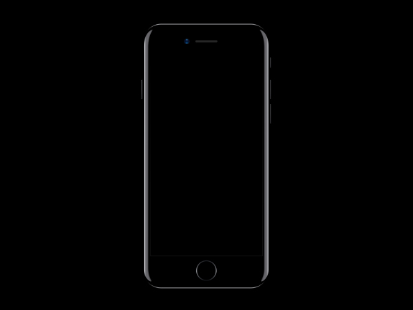 iphone7 sketch vector mockup