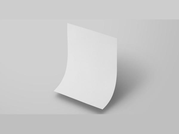 flying paper mockup