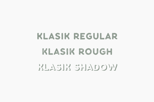Klasik typeface