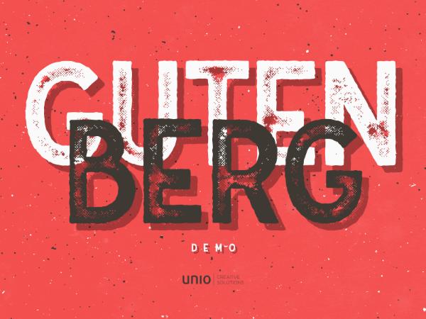 Gutenberg font