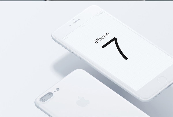 iphone 7 white mockup