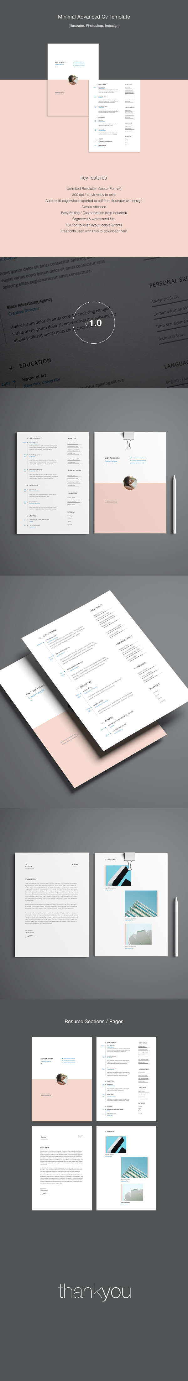 Minimal Multi Page Resume Template