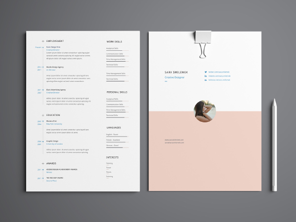 Minimal Multi Page Resume Template