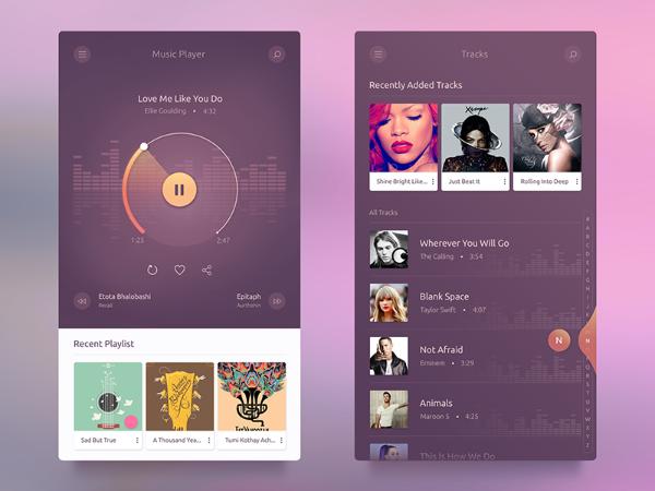 Ui / Ux Music App Design