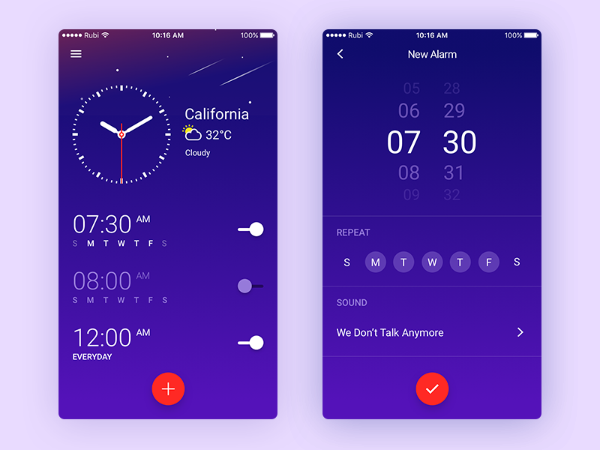 clock ui widget app
